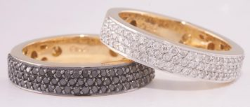 Anel Pavê fino de diamantes